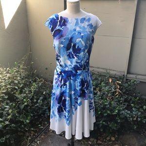 Maggy London Blue Floral Dress 16